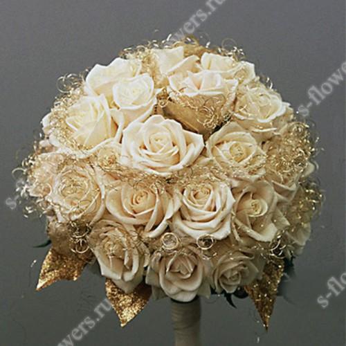 Золотой букет невесты